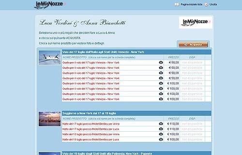 liste di nozze per negozi e agenzie di viaggio su internet ...
